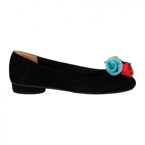 Балетки Fratelli Masotti 7206чёр з/цветн тк роза