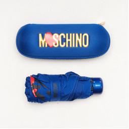 Зонт складной Moschino 8020superminiF син