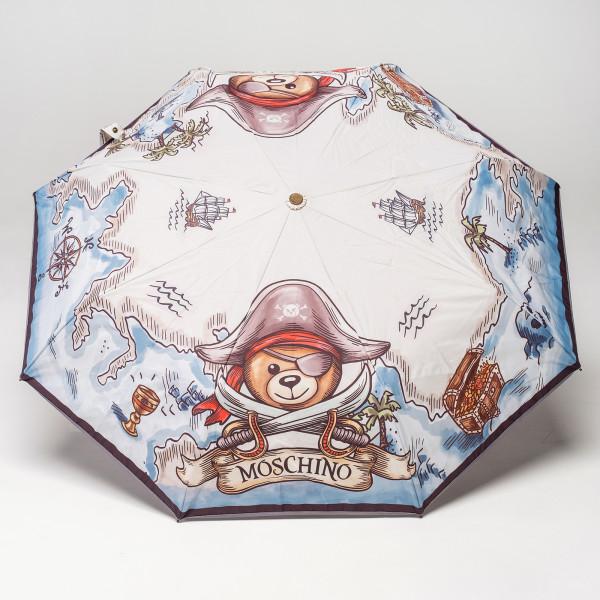 Зонт автомат Moschino 8248open L сер