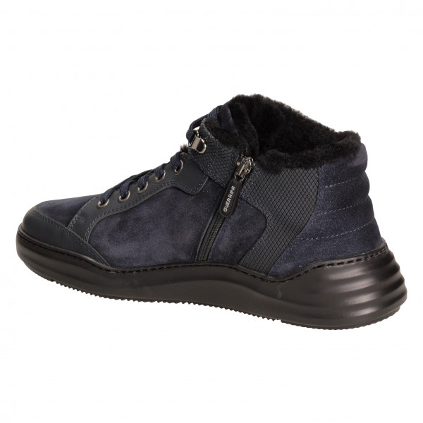 Ботинки Lucaguerrini 9318м замш син