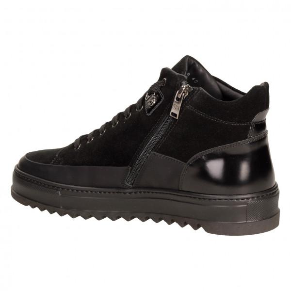 Ботинки Giampiero Nicola 16688м замш чер